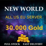 New World Gold Coins 30k 30000 Coin All Server Us East / West / Eu Fast Delivery