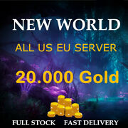 New World Gold Coin 20k / 20.000 Gold Coins - All Us Eu Server Nw East West Ap