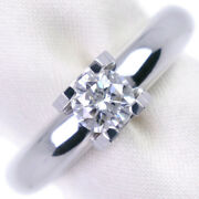 Du Solitaire K18 White Gold Diamond Ring Issue 8.5 Women And039s 52020342