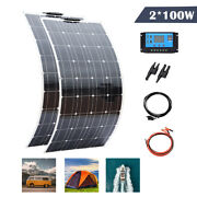 200w Solar Panel Kit System For Car Boat Yacht Rv Camping Hiking Home Charging