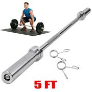 1.5m O Lympic Weightlifting Bar For Cross Training Weight Lifting With Hole