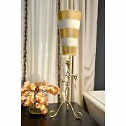 Lucas Mckearn Gold And Crystal Buffet Table Lamp Mix Of Gold And Silver