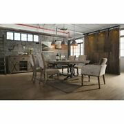 Birmingham Driftwood Table And Nail Head Chair 7-piece Brown 7-piece Sets