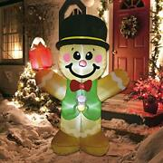 Inflatable Christmas Gingerbread Man Cookie With Build-in Led Lights Yard Decor
