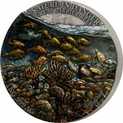 2021 Benin Nature In Danger Great Barrier Reef 1 Kilo Silver Coin - 99 Made