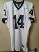 1717 Mens Nike Ncaa Penn State Nittany Lions Psu 14 Authentic Game Jersey White