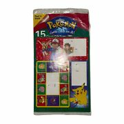 Rare New Sealed Vintage 1996 Pokemon Giant Gift Tags Christmas Holiday Gifts