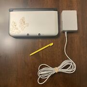 Nintendo 3ds Xl Mario And Luigi Dream Team Silver Handheld System W/charger