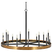 Hinkley Lighting 3865 Wells 15 Light 45w Taper Candle Style - Brass