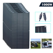 10x100w Monocrystalline Flexible Solar Panel For Camping/boat/home/car/outdoor