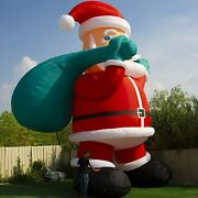 Giant Inflatable Santa Claus 33ft Christmas Premium With Ul Blower For Yard