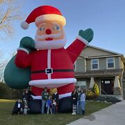 Inflatable Santa Claus 40ft Giant Tkloop Premium With Blower For Christmas