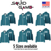 [squid Game] Netflix Player Tracksuit Halloween Costume Cosplay Party Us Stock