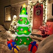 Christmas Inflatable Tree Outdoor Decor Led Lights Yard Garden Party Holiday 6ft