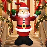 Christmas Inflatable Santa Claus Carry Gift Bag Led Lights Blow Up Decor 6 Ft