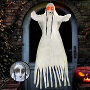 Yopinsand Halloween Hanging Ghost Decorations - 60 Inch Animated Skeleton With