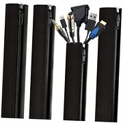 Cable Management Sleeves And Cable Sleeves Wrapper For Cords – 4 Cord Sleeve