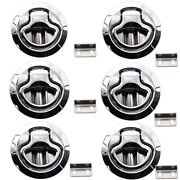 6pcs Marine Boat Stainless Steel 2and039and039 50mm Flush Pull Hatch Lock Slam Latch Lift
