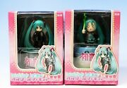 Vocaloid Hatsune Miku Music Box Figure Ver.1.5 Full Set Of 2 Types +extra Poster