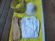 Vintage Big Ben Bee Keeping Suit Size 38 Reg W/ Pith Helmet And Face Net