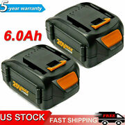 12pack 20 Volt For Worx Wa3525 20v 3.0ah Max Lithium Battery Power Tools Wa3520