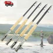 2.1m Fly Fishing Rod Portable Carbon Ultralight Fast Action Fly Rod Corkhandle