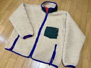 Super Rare Masterpiece Retro Pile Jacket Natural Green L Made In Usa