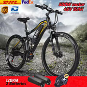 New Electric Mountain Bike Full Suspension Snow Cycle Electrica Beach Mtb Bicycl