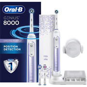 Oral-b 8000 Electric Toothbrush With Bluetooth Connectivity, Orchid Purple