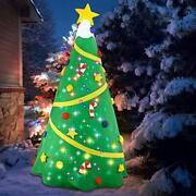 Christmas Inflatable Tree Lighted Tree Blow Up Yard Party Decor Garden 8ft