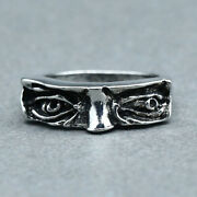 Fashion Unique Menand039s Handmade Face Eyes Party Ring Punk Gothic Jewelry Gift