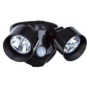 New Dual Head Motion Sensor Led Wireless Security Light Outdoor In Black