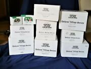 Department 56 Dickens Village Lot Of 8 Houses 2 Accessories