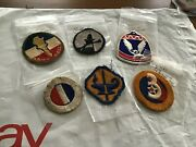 B Vintage Ww11 U.s. Army Division Patches Non Fluorescent With Black Light