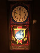 Vtg Old Style Beer Illuminated Light Up Wall Hanging Clock Sign-see Photos-