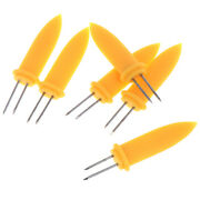6pcs Corn Holders Skewers Needle Fork For Bbq Garden Hand Tools