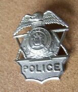 State Of New Jersey Police Metal Badge Screw Type Back Insert Type C39371