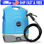 Portable Electric Pressure Washer, Rechargeable 2200 Mah Battery And 12v Car Plug