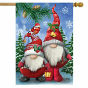 Winter Gnomes Christmas Flag Outdoor Double Sided Yard Garden Flag