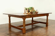Traditional Oak 8and039 Vintage Dining Library Or Conference Table 38402