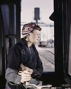 Female Roundhouse War Worker Of Chicago And North Western Railroad Photo Print