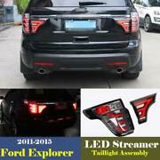 Tail Lamp Led Taillight Assembly Streamer Light Smoked For Ford Explorer 11-15