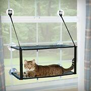 Kandh Pet Products Ez Mount Window Kitty Sill Double Stack Gray 12 X 23 Inches