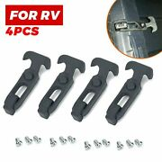 4pcs Rubber Flexible T-handle Hasp Draw Latch For Tool Box Rv Cooler Golf Cart