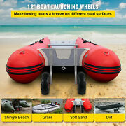 Vevor Transom Launching Wheels For Inflatable Boat Dolly 12 Wheels 500 Lbs