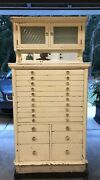 1920's Dental Cabinet All Original Glass American Cabinet Co. No Rust Or Dents