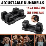 Weight Dumbbell Adjustable Gym Home Sports Barbell Plates Body Workout Usa 25lb