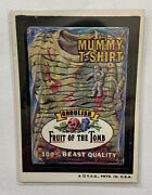 1974 Topps Wacky Packages Mummy T-shirt Fruit Of Tomb Sticker Card Tan Back 👀