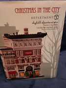 """Dept 56 Christmas In The City - """"dayfield's Dept Store"""