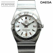 Omega Constellation Double Eagle 1581 70 Women And039s White Shell Dial Quartz 142
